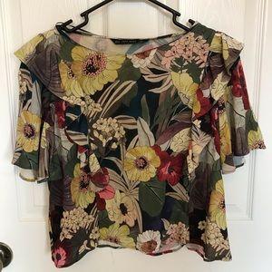 Top and Bottom floral print set Zara